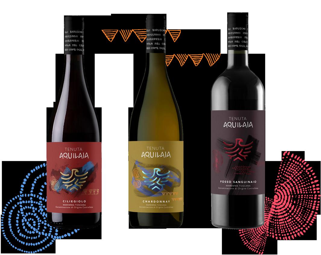 I vini IGT Maremma Toscana della linea Auspici di Tenuta Aquilaia