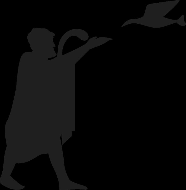 L'augure, un sacerdote etrusco che interpretare i segni degli Dei dal volo degli uccelli